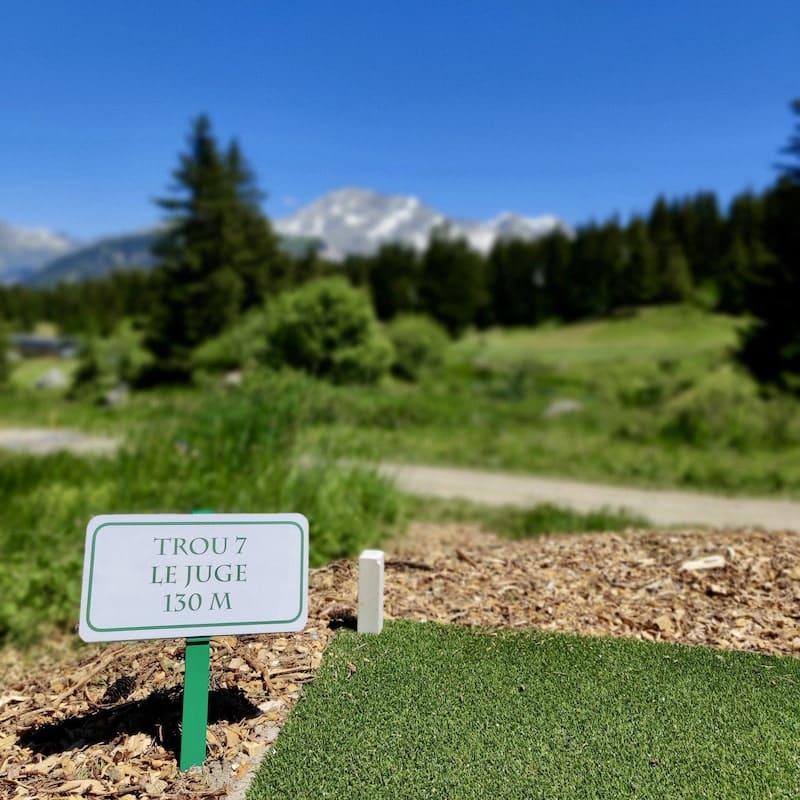 Golf Club de Courchevel | Trou 7 - 130 m