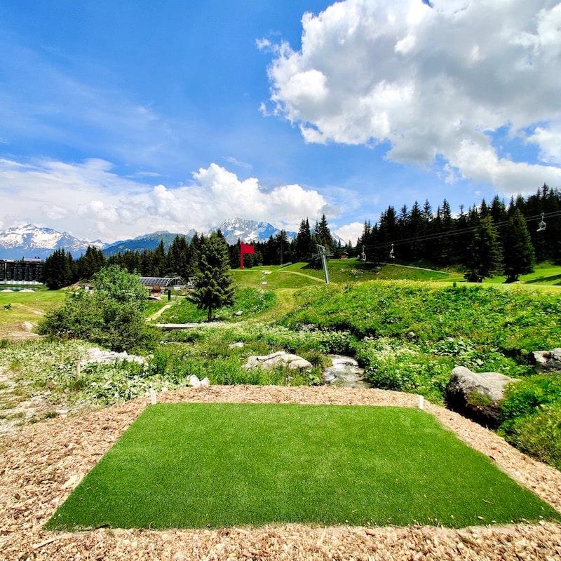 Golf Club de Courchevel | Départs noirs du trou 9