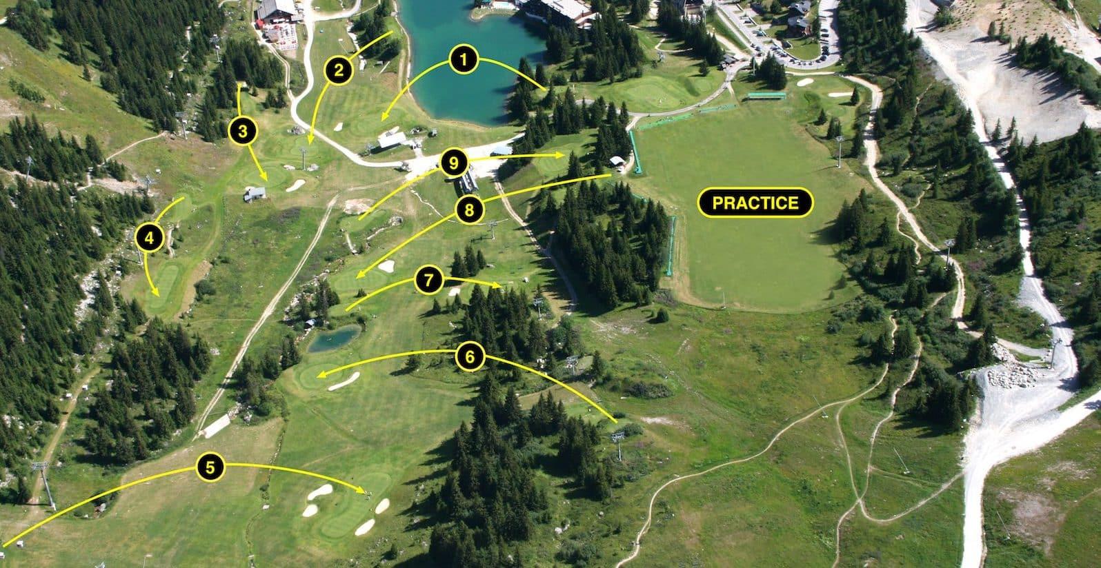 Golf Club de Courchevel | Photo aérienne du parcours