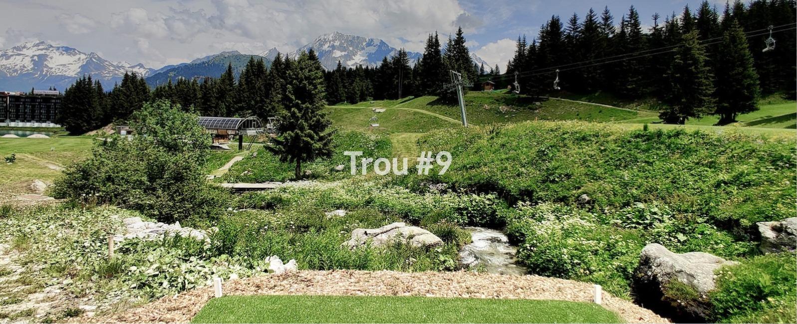 Golf Club de Courchevel | Départ du trou 9 avec vue sur le Grand Bec