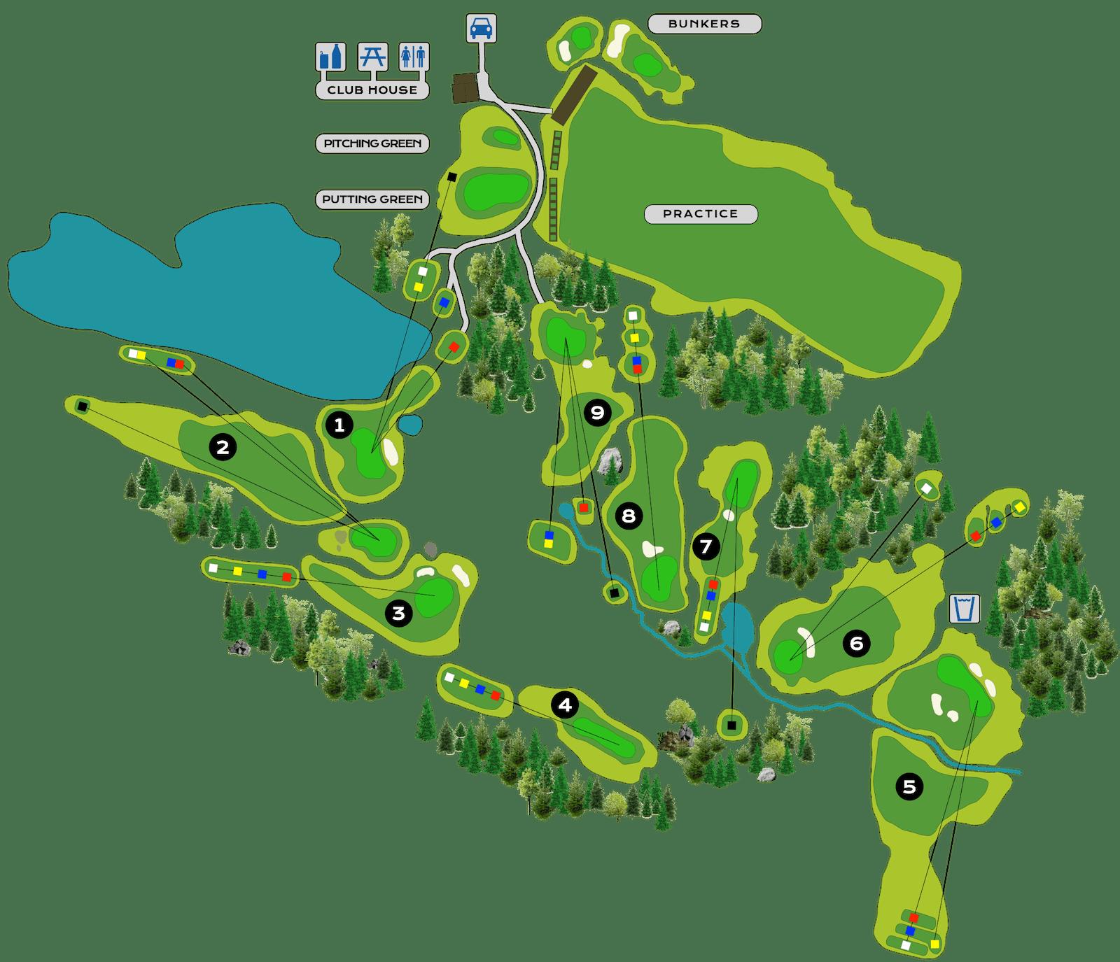 Golf Club de Courchevel | Plan du Parcours