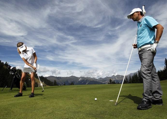 Golf Club de Courchevel |Jouer en couple au sommet