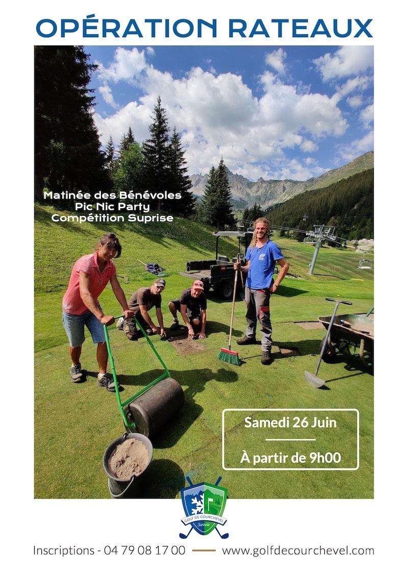 Golf Club de Courchevel   Opération Râteaux 2021